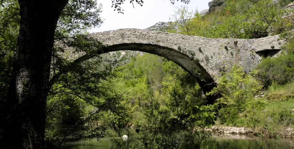 Saint-Maurice-Navacelles (Hérault) Le pont romain