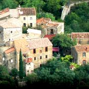 Saint-Maurice-Navacelles (Hérault) Navacelles, vue générale