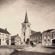 Saint python 59 l eglise et la mairie cpa