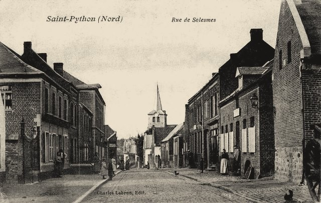 Saint python 59 la rue de solesmes cpa