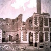 Saint python 59 le chateau en ruines en 1914