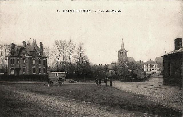 Saint python 59 le chateau leterme a gauche vers 1908 cpa