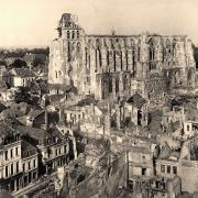 Saint-Quentin (Aisne) CPA 1918, la basilique
