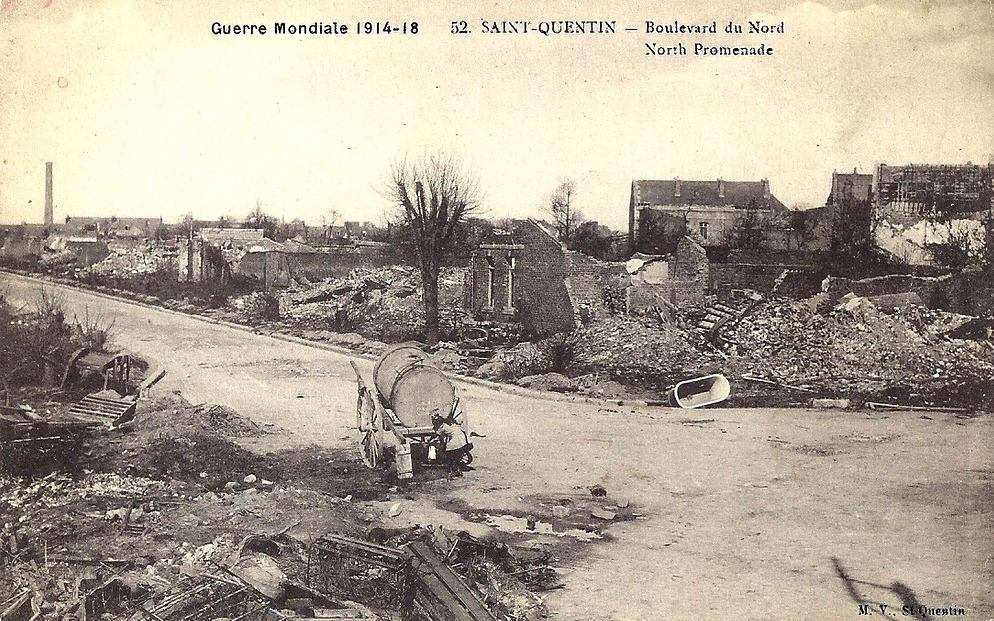 Saint-Quentin (Aisne) CPA 1914, le bld du Nord