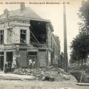 Saint-Quentin (Aisne) CPA 1914, le bld Richelieu