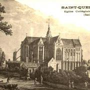 Saint-Quentin (Aisne) CPA la Collégiale gravure 1797