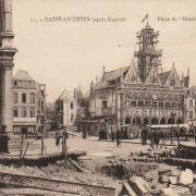 Saint-Quentin (Aisne) CPA 1914, l'Hôtel de ville