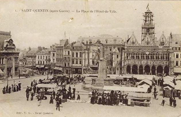 Saint-Quentin (Aisne) CPA l'Hôtel de ville