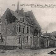 Saint-Quentin (Aisne) CPA 1914, l'Hôtel-Dieu