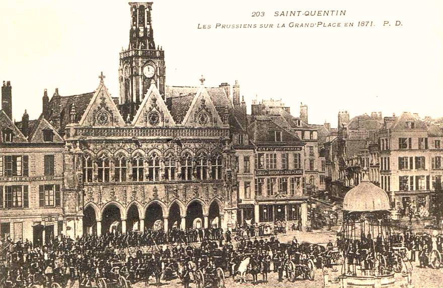 Saint-Quentin (Aisne) CPA occupation prussienne en 1871