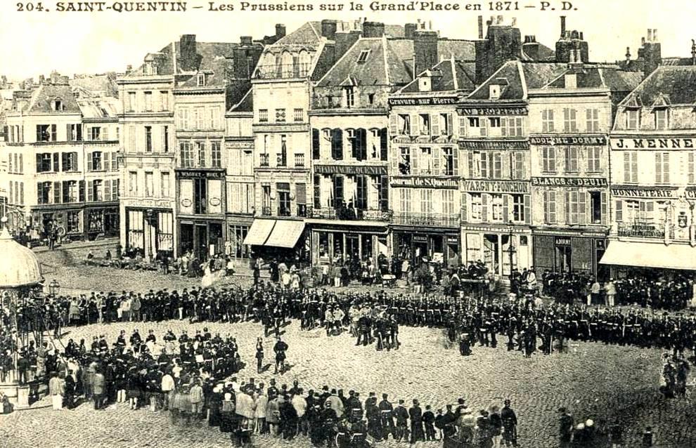 Saint-Quentin (Aisne) CPA occupation prussienne en 1871