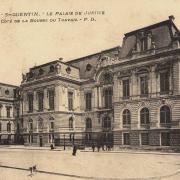 Saint-Quentin (Aisne) CPA le Palais de justice et la Bourse du travail