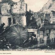 Saint-Quentin (Aisne) CPA 1914, le bureau de Poste