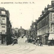 Saint-Quentin (Aisne) CPA la rue d'Isle
