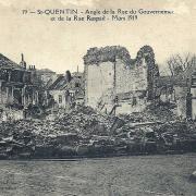 Saint-Quentin (Aisne) CPA 1914, la rue du gouvernement