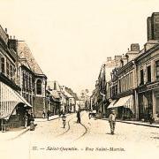 Saint-Quentin (Aisne) CPA la rue Saint Martin