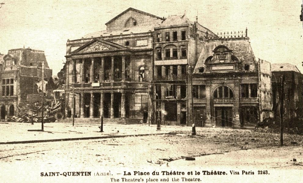 Saint-Quentin (Aisne) CPA 1914, le Théâtre