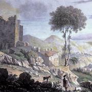 Saint-Roman-de-Codières (Gard) Gravure du XVIIIème siècle