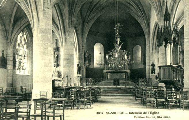 Saint-Saulge (Nièvre) L'église CPA
