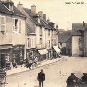 Saint-Saulge (Nièvre) La place CPA