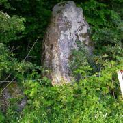 Saint-Saulge (Nièvre) Le menhir du Bourras