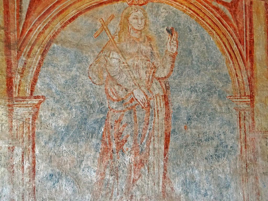 Sainte-Eulalie-de-Cernon (Aveyron) La Commanderie, peinture murale