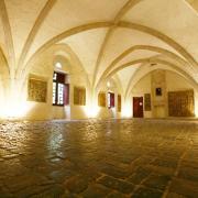 Sainte-Eulalie-de-Cernon (Aveyron) La Commanderie, salle commandeurs