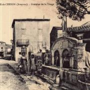 Sainte-Eulalie-de-Cernon (Aveyron) CPA La fontaine de la Vierge