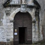 Sainte-Eulalie-de-Cernon (Aveyron) L'église Sainte-Eulalie, portail