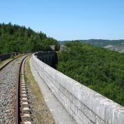 Sainte-Eulalie-de-Cernon (Aveyron) Le viaduc
