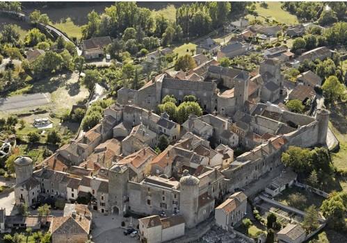 Sainte-Eulalie-de-Cernon (Aveyron) Vue aérienne