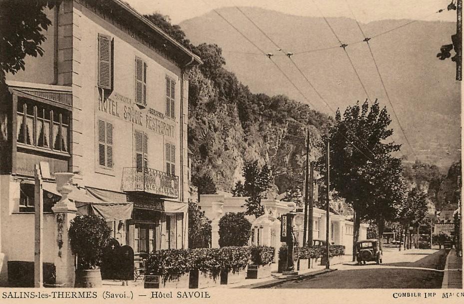 Salins-Fontaine (Savoie) L'hôtel  Savoie CPA