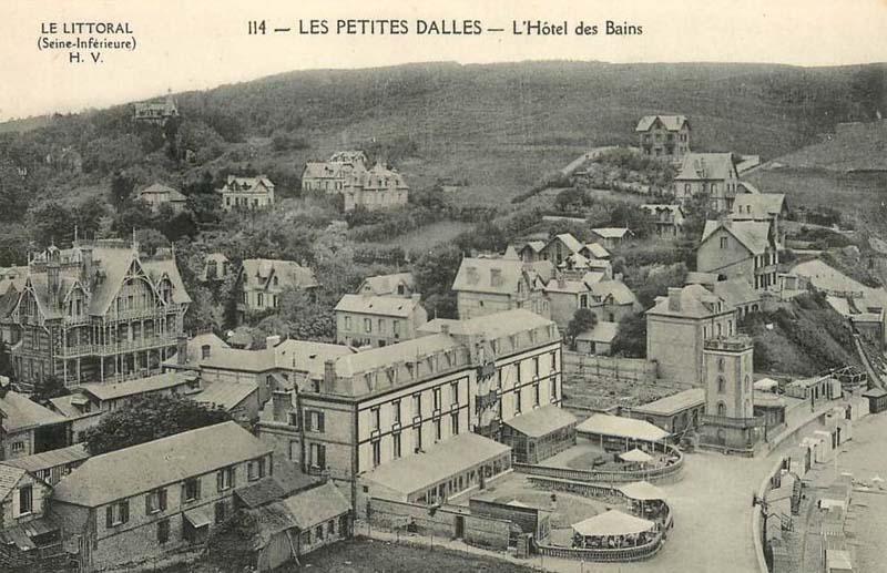 Les Petites-Dalles, l'hôtel des Bains CPA