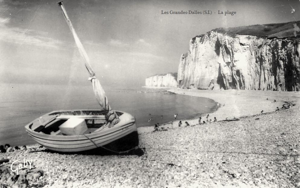 Les Grandes-Dalles, la plage CPA