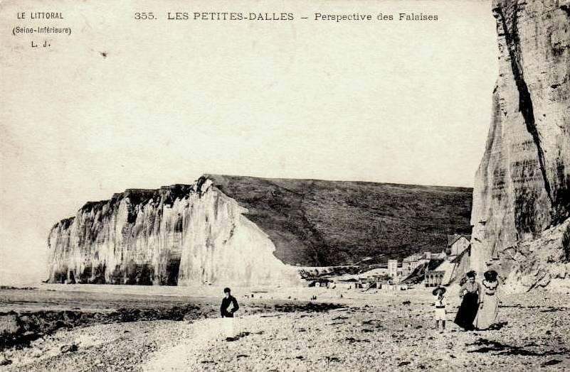 Les Petites-Dalles, les falaises CPA
