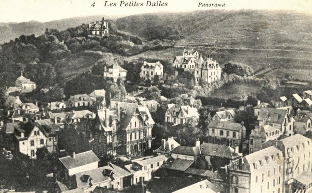 Les Petites-Dalles, vue aérienne