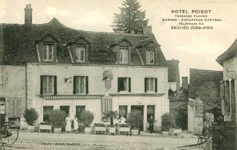 Saulieu (Côte d'Or) L'Hôtel Poisot CPA