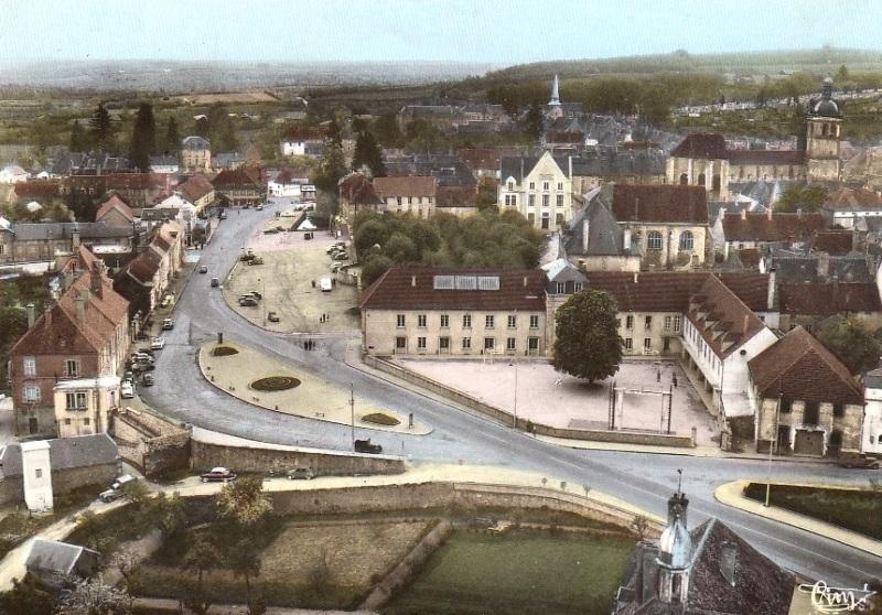 Saulieu (Côte d'Or) Vue aérienne CPA