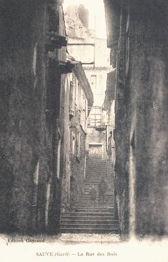 Sauve (Gard) CPA La rue des rois