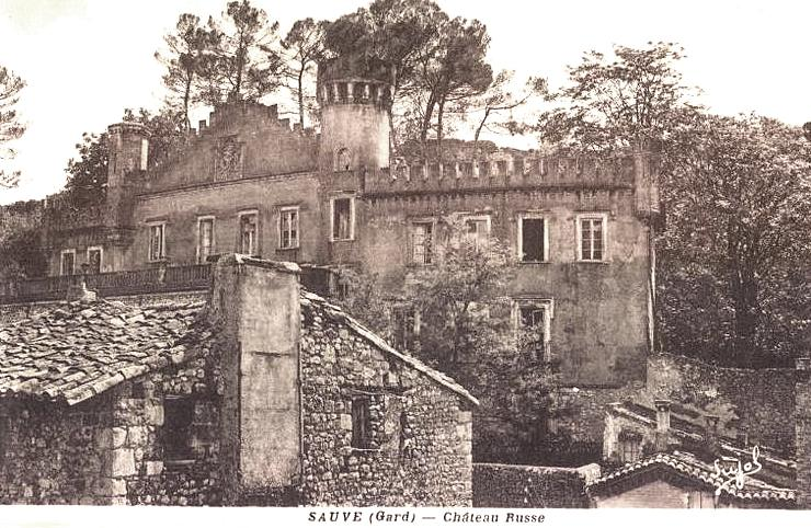 Sauve (Gard) CPA Le château russe