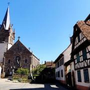 Schnersheim 67 l eglise saint etienne et la place