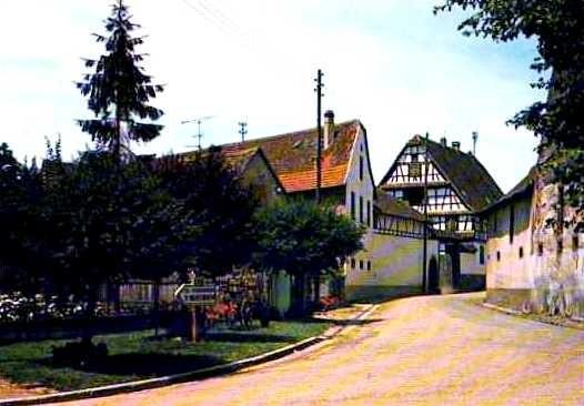 Schnersheim 67 la rue principale cpa