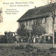 Schnersheim 67 un restaurant cpa