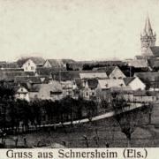 Schnersheim 67 vue generale cpa