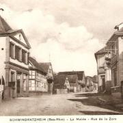 Schwindratzheim 67 la mairie cpa