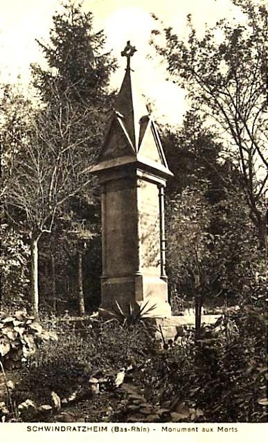 Schwindratzheim 67 le monument aux morts cpa