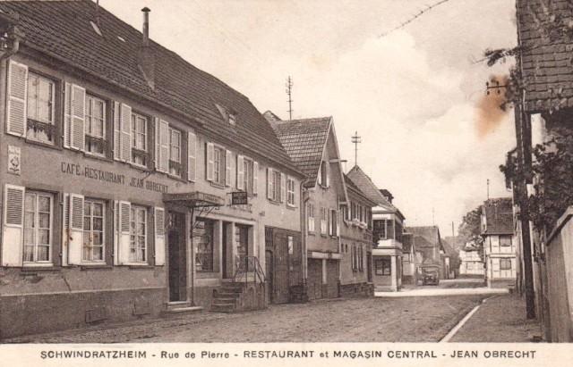 Schwindratzheim 67 le restaurant cpa