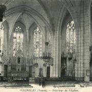 Seignelay (89) L'église, intérieur CPA