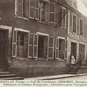 Seignelay (89) Le café du Commerce CPA