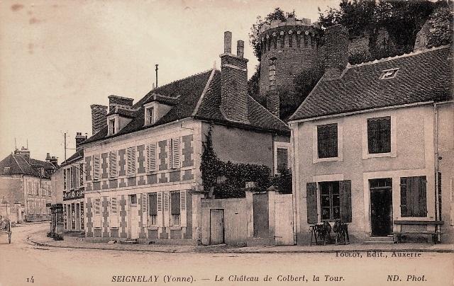 Seignelay (89) Le château CPA
